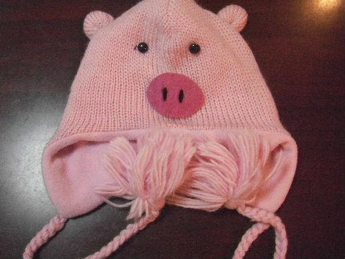 豚のかぶり物ニット帽