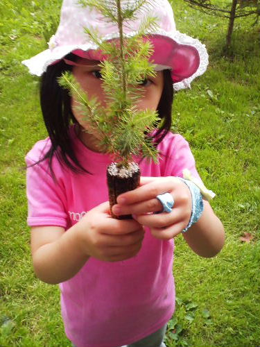 モンゴメリの子孫の方と記念植樹